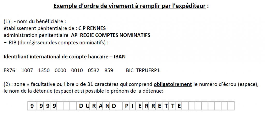 Exemple virement CPF